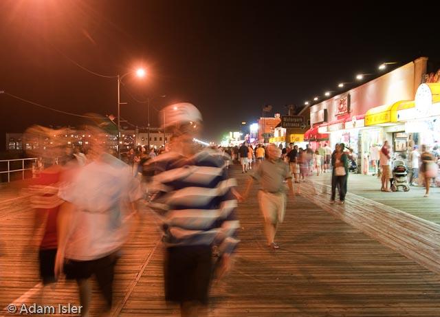 Ocean City Boardwalk, Night (handheld)