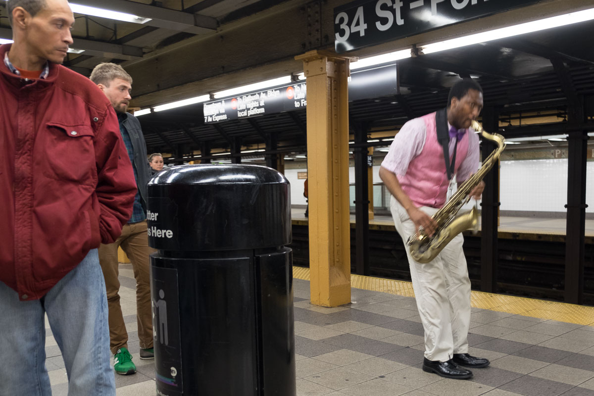 34th St subway station, New York