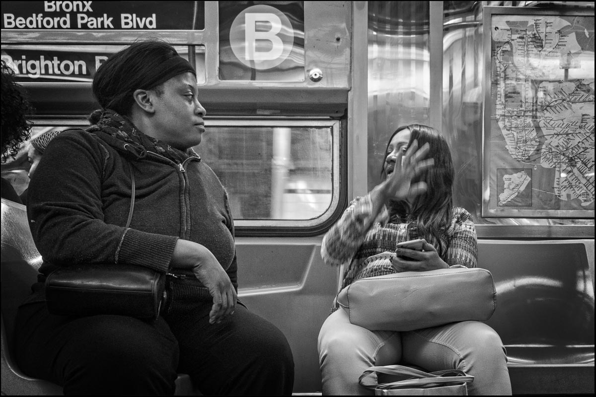 B train, Bronx, New York
