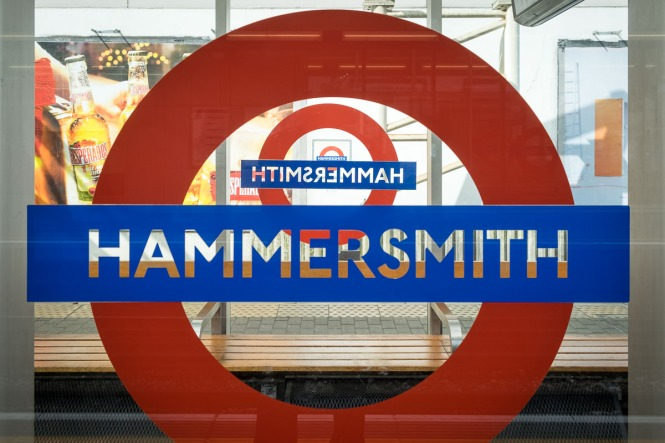 Hammersmith tube station, London