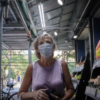 Candid Portrait with Mask